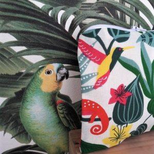 Trousse zippée, imprimé exotique et urban jungle