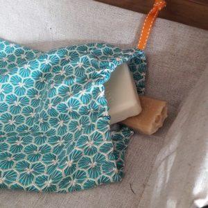 Kit couture – Comme un trèfle bleu – Sac lien coulissant