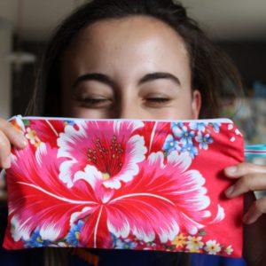 Kit couture – Mes fleurs d'un jardin chinois – Pochette zippée
