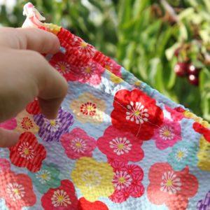 Kit couture – Fleurs de cerisier – Sac lien coulissant