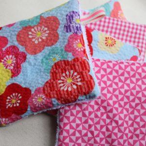 Kit couture – Fleurs de cerisier, blanc – 5 lingettes démaquillantes