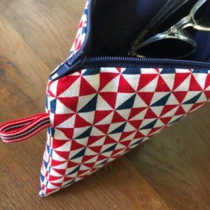 Kit couture – Fanions du 14 juillet – Pochette zippée