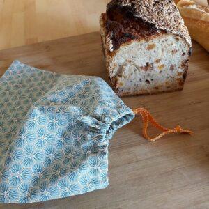 Kit couture – Comme un trèfle bleu horizon – Sac lien coulissant