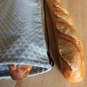 Kit couture – Comme un trèfle bleu horizon – sac à pain