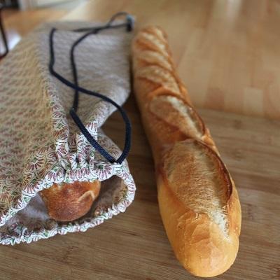 sac en tissu pour le pain couture débutant DIY