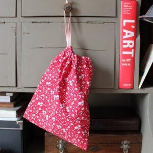Kit couture – Fleurs dans mon jardin anglais – Sac lien coulissant