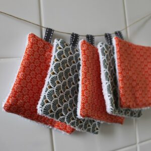 Kit couture – Orange is the new trésor, blanc – 5 lingettes démaquillantes