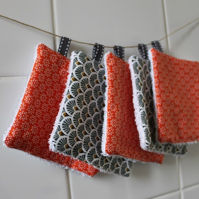 carrés lavables en éponge DIY zéro déchet