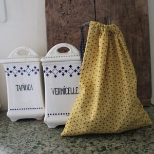 Kit couture – Etoiles en sashiko – Sac lien coulissant