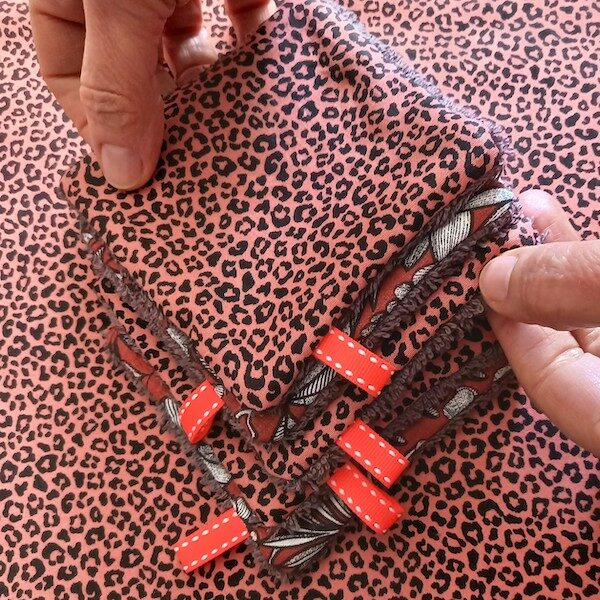 kit couture pour faire soi-même des lingettes démaquillante couture DIY
