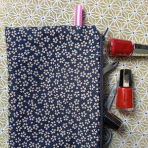 Kit couture – Confettis de Sakura – Pochette zippée