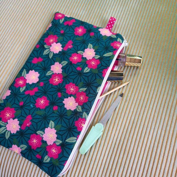 pochette Suzette et moi imprimé fleuris