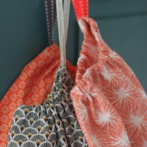 Kit couture – Triplettes Tourner la tête – 3 sacs lien coulissant