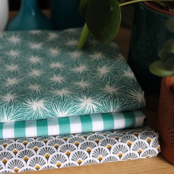 Coupons de tissus – plongeon en vert mentholé