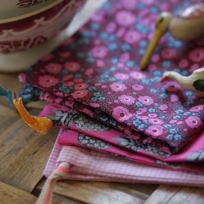 Kit couture – Triplettes Ananas – 3 sacs lien coulissant
