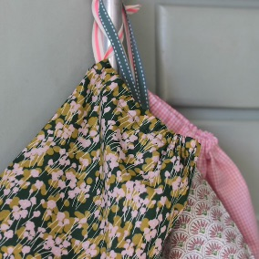 Kit couture – Triplettes Herbes Folles – 3 sacs lien coulissant